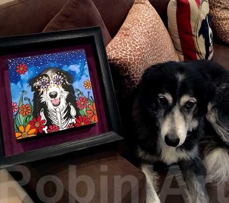 Border Collie with RobiniArt