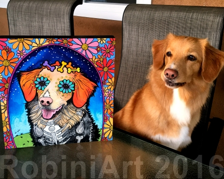 Nova Scotia Duck Tolling Retriever custom portrait by RobiniArt
