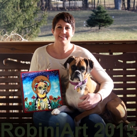 I couldn't have been happier with the whole RobiniArt experience! Robin is so sweet and so easy to work with. She captured my Josie perfectly. I was so excited to see the photo updates online as she was painting her portrait. The finished product was amazing! When I saw it in person I couldn't believe it was possible for it to be even better. I couldn't stop looking at it. The details were amazing! I feel so lucky to have a piece of Robin's work and would definitely do it again! Thank you!!  Amy, Mike & Josie Harrell