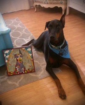RobiniArt Zeus the Doberman