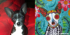 RobiniArt Otis the Chihuahua before and after