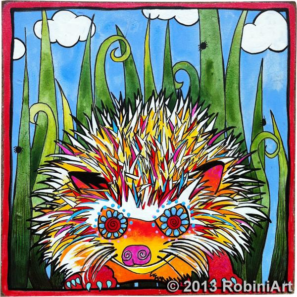 RobiniArt Lulu the Hedgehog portrait