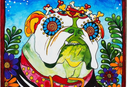 RobiniArt Fleabus the English Bulldog portrait