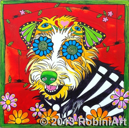 RobiniArt Dottie, the Jack Russell Terrier