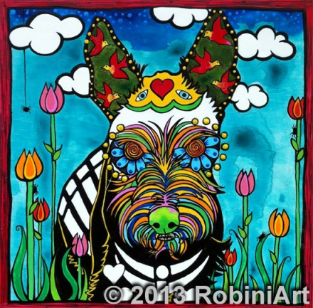 RobiniArt Buster the Mini Schnauzer