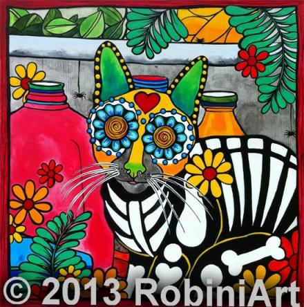 RobiniArt Guillermo the Fridge Kitty