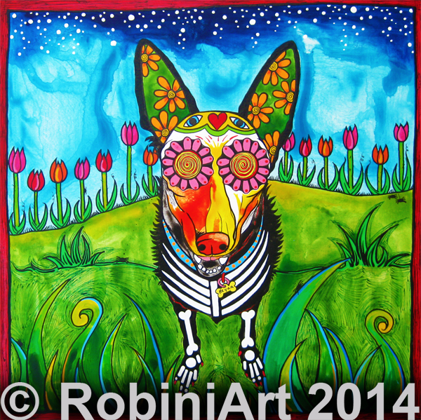 RobiniArt Reyna the German Shepherd