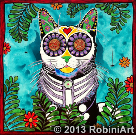 RobiniArt Smudge, the Cat
