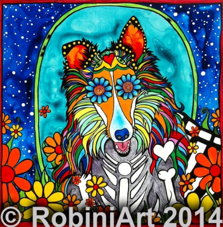 RobiniArt Colby, the Collie