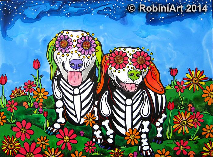 RobiniArt Zoe and Chloe the Dachshunds