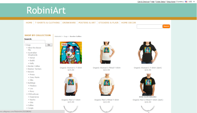 Click here to purchase apparel, jewelry, home good and stationery via CafePress!