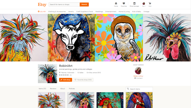 RobiniArt Etsy Home Page