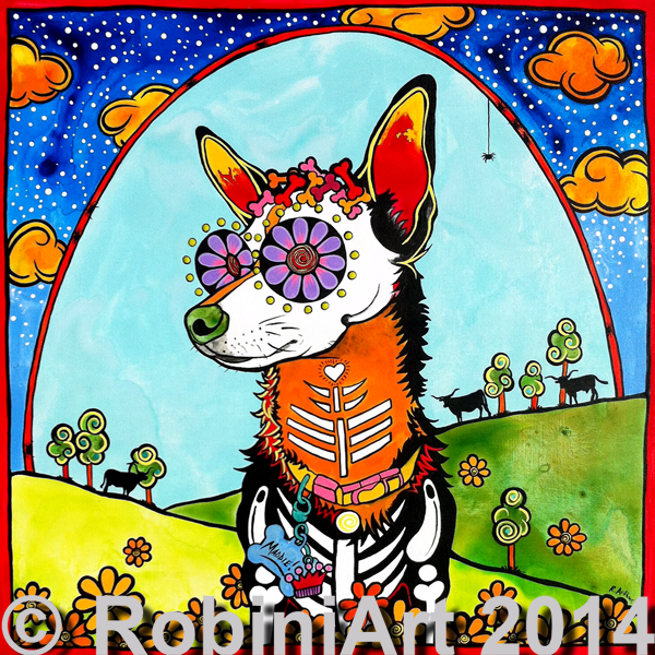 RobiniArt portrait of Maddie the Chihuahua, copyright RobiniArt 2014