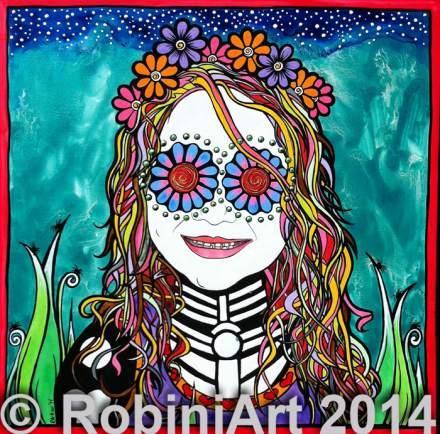 RobiniArt portrait of Amma, copyright 2014, RobiniArt
