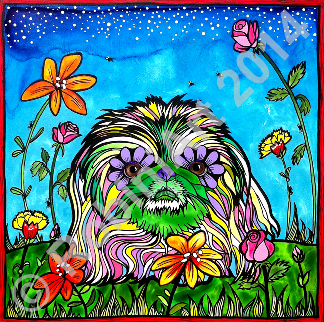 Lily Rose, the Pekingese, copyright RobiniArt 2014