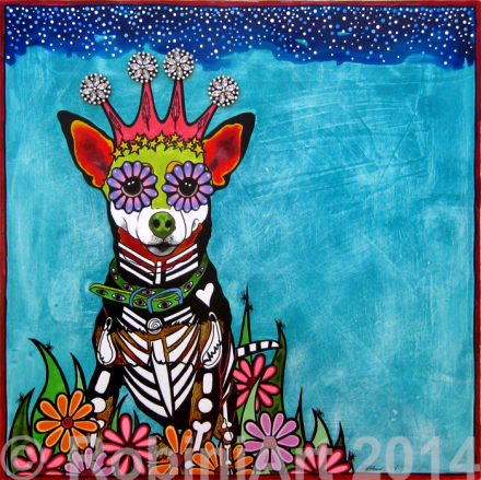 RobiniArt portrait of Zoey the Chihuahua