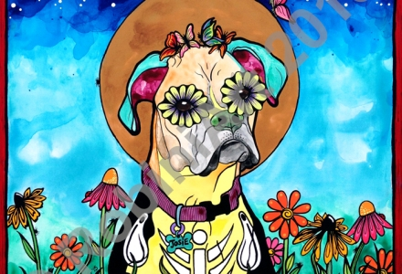 Josie the Boxer, © RobiniArt 2015