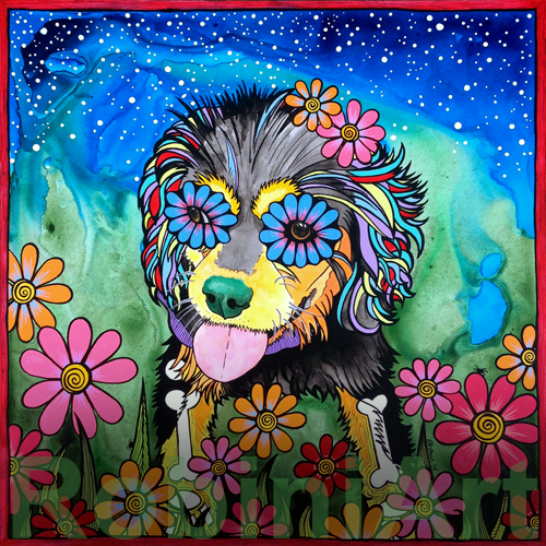 RobiniArt portrait of Lily the Cavalier King Charles Spaniel copyright RobiniArt 2015