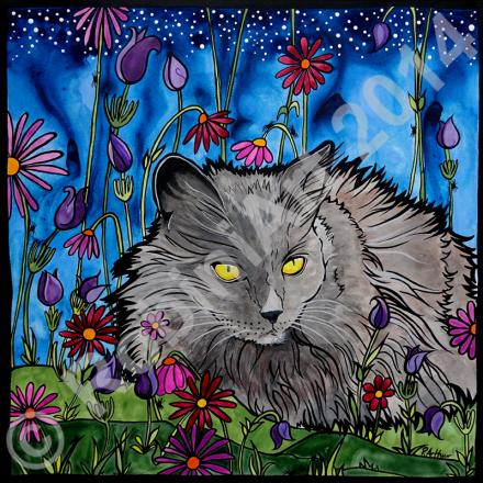 Robiniart Cat Portrait India 2015