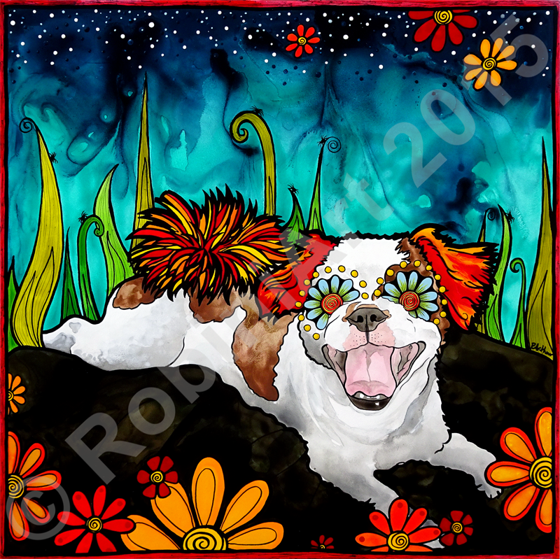 RobiniArt Shih Tzu Portrait 2015, copyright RobiniArt