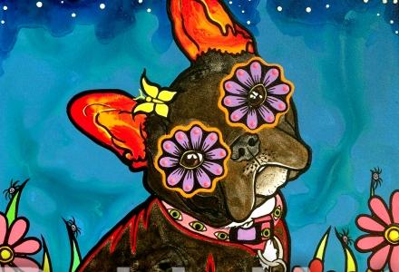 French Bulldog Annie by Robin Arthur ©RobiniArt, 2016