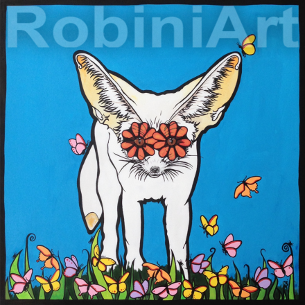 RobiniArt Fennec Fox Portrait