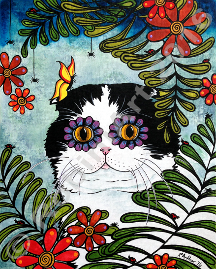 RobiniArt Scottish Fold Cat 2016 Custom Pet Portrait