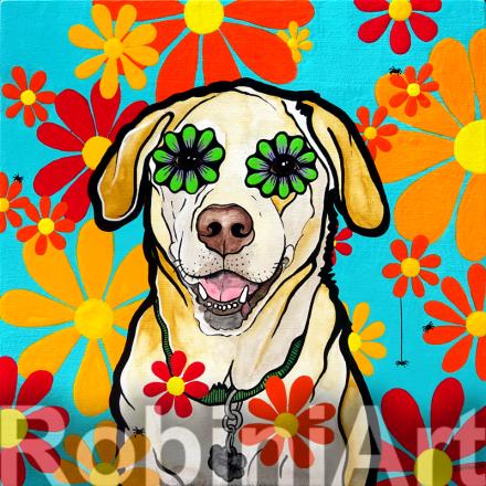 Labrador Retriever Dog RobiniArt Dog Art