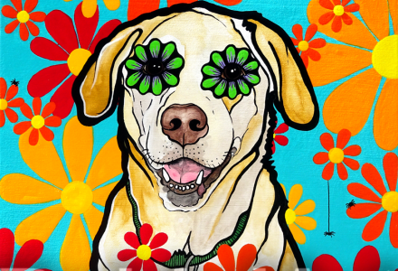 Labrador Retriever Dog RobiniArt Dog Art