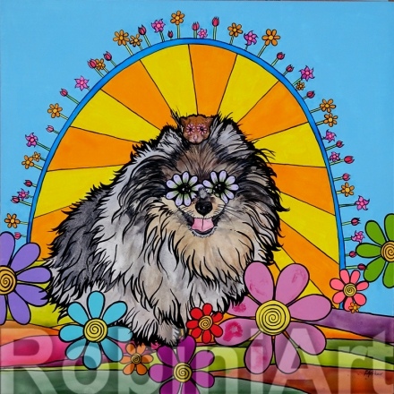 Pomeranian Pet Portrait RobiniArt