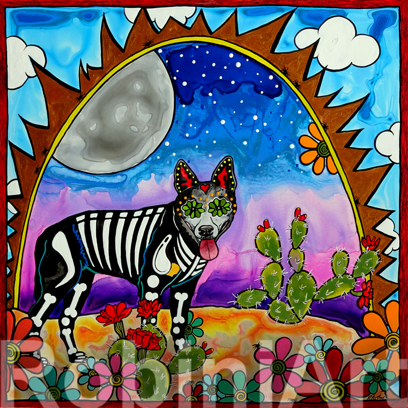 Blue Heeler Luna RobiniArt 2016
