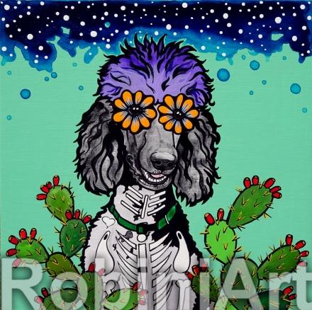 Parti Poodle Robin Arthur © RobiniArt 2016