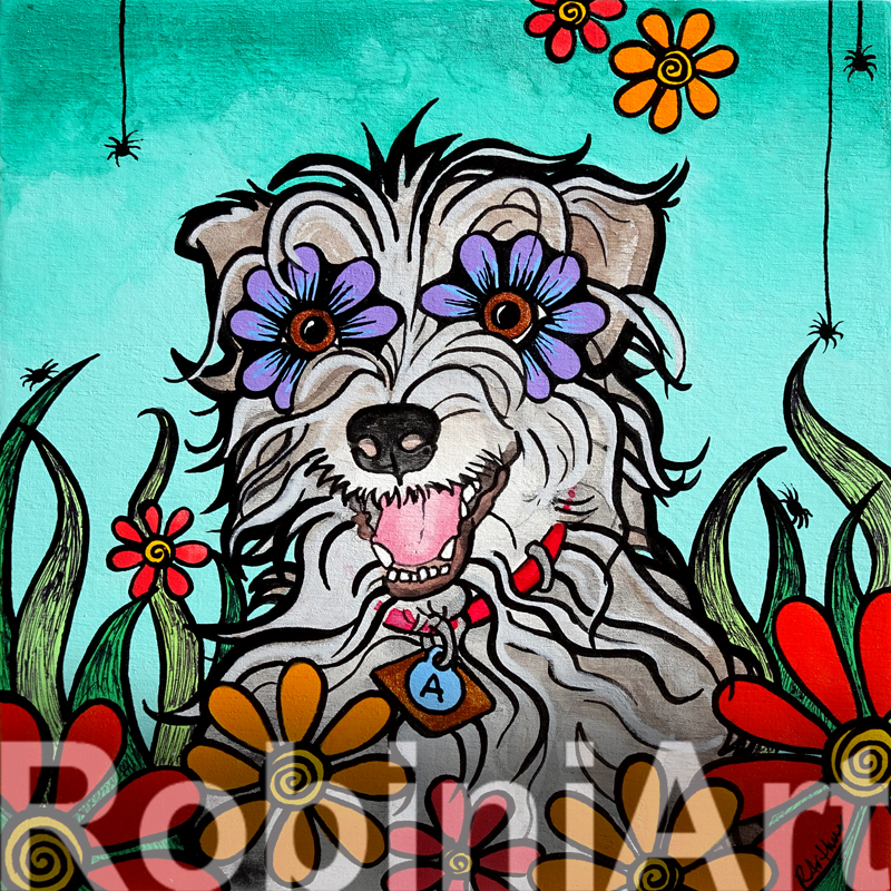 Terrier Archie_RobiniArt portrait 2016