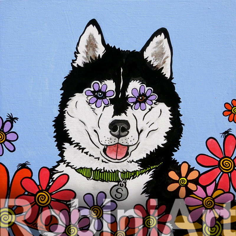 Siberian Husky Painted by RobiniArt ©RobiniArt 2016