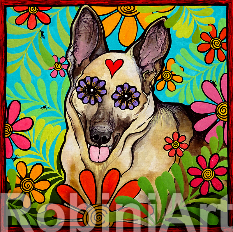 German Shepherd Robin Arthur RobiniArt