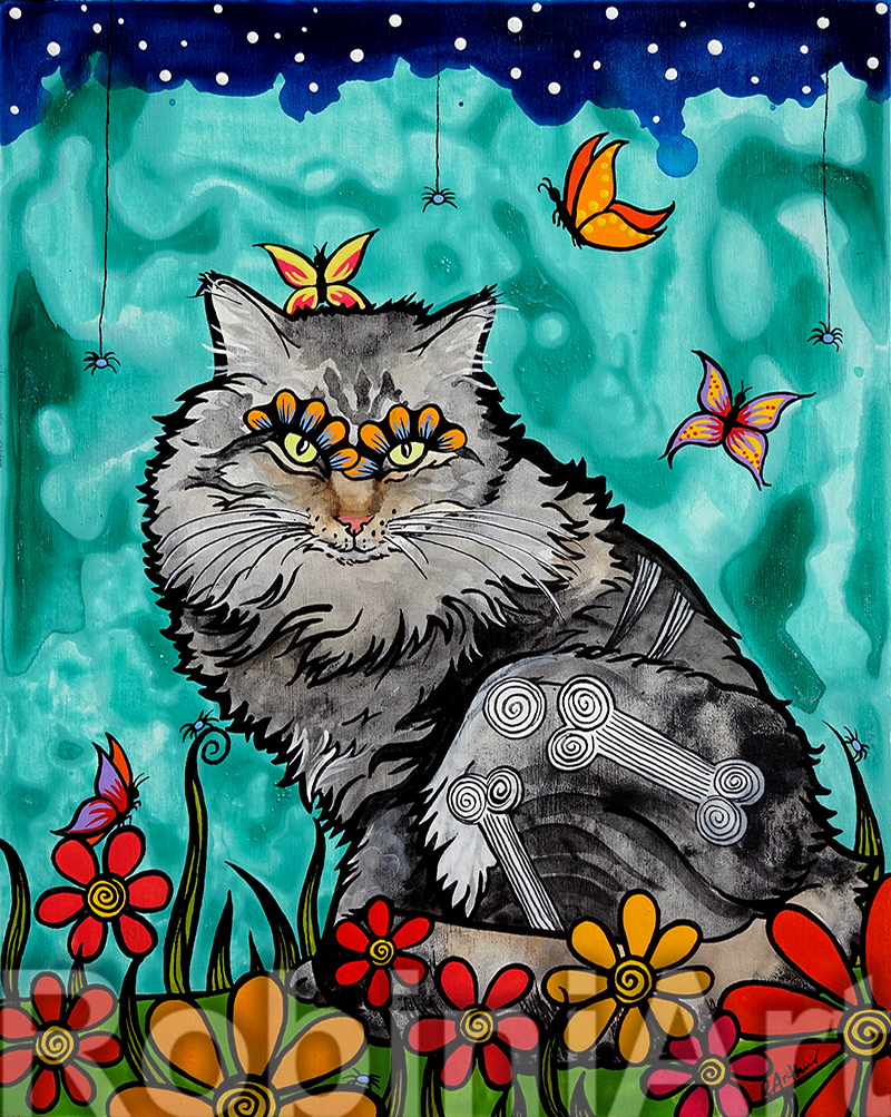 Maine Coon Cat Art by RobiniArt ©RobiniArt 2016