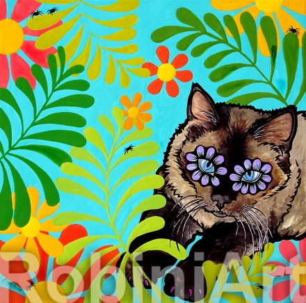 Cat Pet Portrait RobiniArt Panda Contreras ©RobiniArt 2016