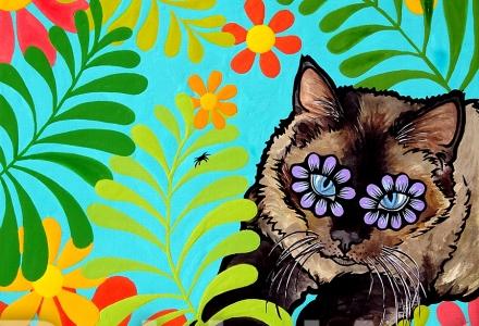 Cat Pet Portrait RobiniArt Panda Contreras ©RobiniArt 2016