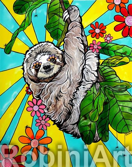 Tree Sloth by Robin Arthur of RobiniArt ©RobiniArt, 2016