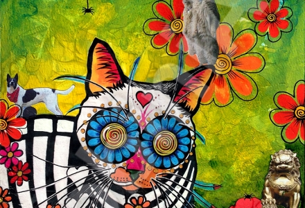 RobiniArt Robin Arthur cat collage