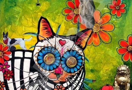 RobiniArt Robin Arthur cat collage