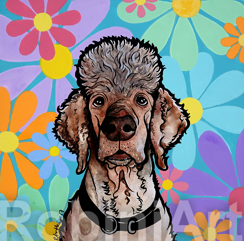 Parti Poodle by Robin Arthur ©RobiniArt, 2017