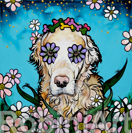 Golden Retriever by Robin Arthur aka RobiniArt
