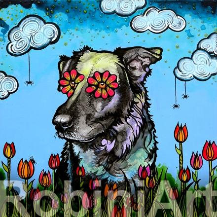 Labrador Retriever Daisy by Robin Arthur aka RobiniArt