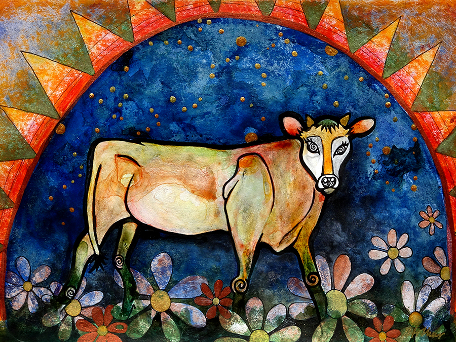 Jersey Calf Painting by Robin Arthur