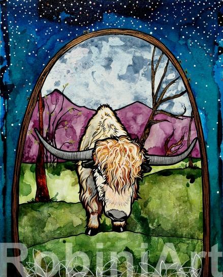 Paonia Yak by Robin Arthur aka RobiniArt