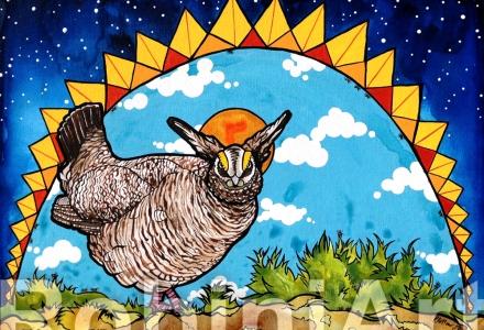 Prairie Chicken by Robin Arthur aka RobiniArt 2017