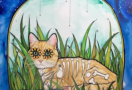 RobiniArt aka Robin Arthur Orange Tabby Cat Custom Portrait