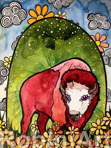 Bison Buffalo by RobiniArt 2018
