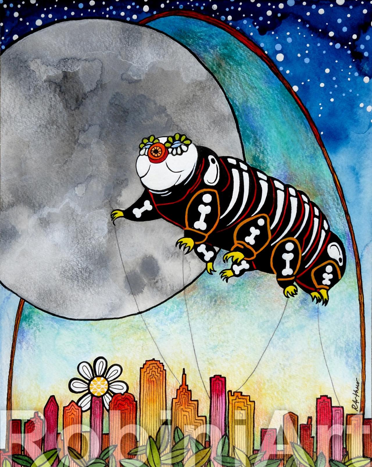 Tardigrade Painting by Robin Arthur aka RobiniArt 2018